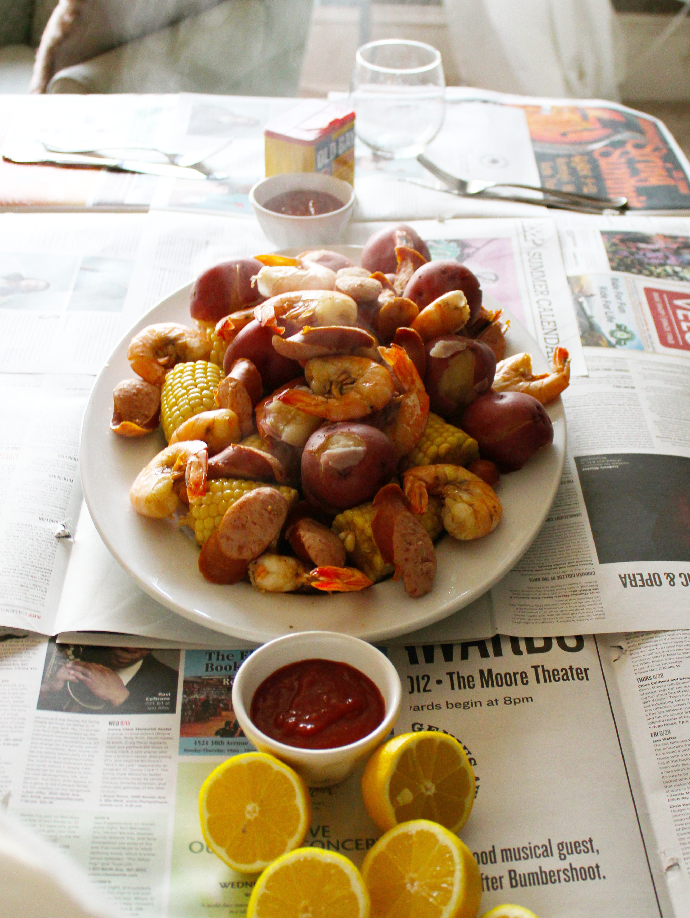 Says summer to me like a lowcountry boil also known as frogmore stew